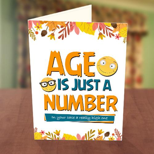 Old Age Smiley Birthday Card Front