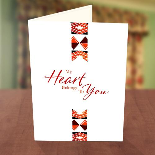 African Print Sweetheart's Day Card