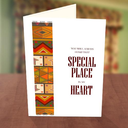 African Sweetheart's Day Card