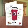 Arsenal Fan Birthday Card