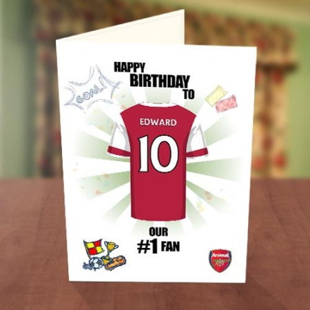Arsenal Fan Birthday Card