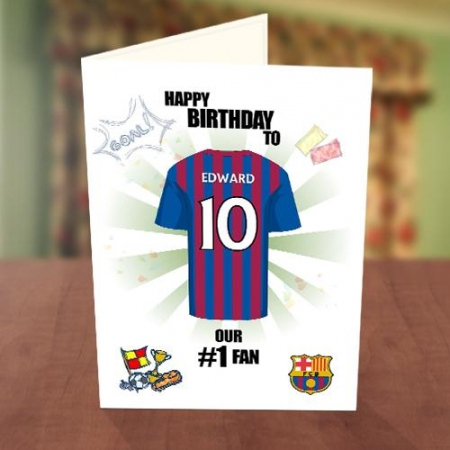 Barcelona Fan Birthday Card