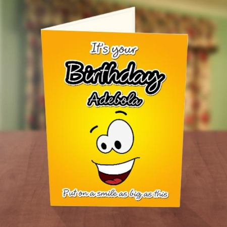 Big Smiley Birthday Card Front