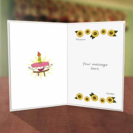Big Smiley Birthday Card Inner