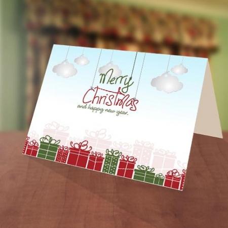 Blue Sky Gift Christmas New Year Card