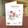 Colourful Flower Vase Birthday Card