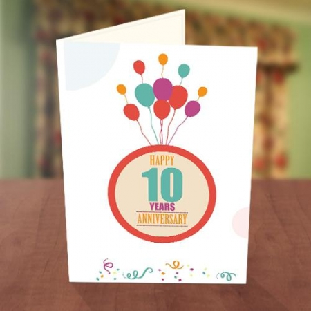 Colourful Balloon Anniversary Card