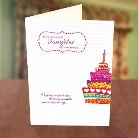 Colourful Cake Birthday Card for Her
