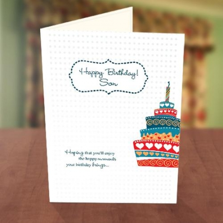 Colourful Cake Birthday Card for Him
