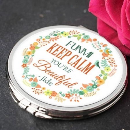 Colourful Flowers Keep Calm Mirror