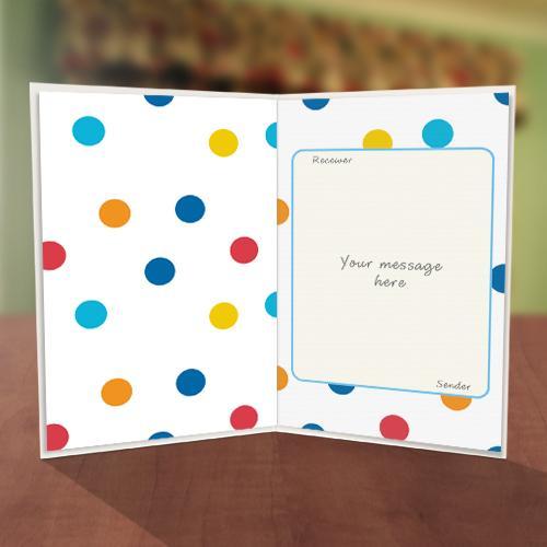 Colourful Polka Dot Thank You Card Inner