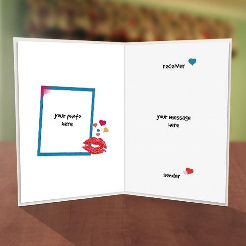 Colourful Typeface Anniversary Card Inner