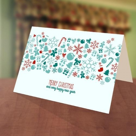 Decoration Christmas New Year Card