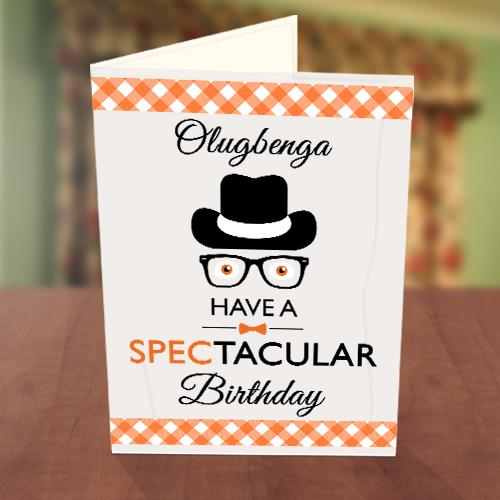 Detective Birthday Card Front