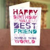 Disco Light Best Friend Birthday Card Front