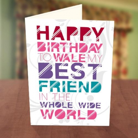 Disco Light Best Friend Birthday Card Front