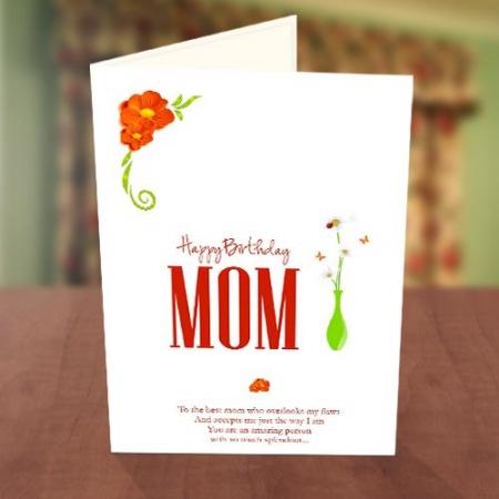 Flower Vase Birthday Card
