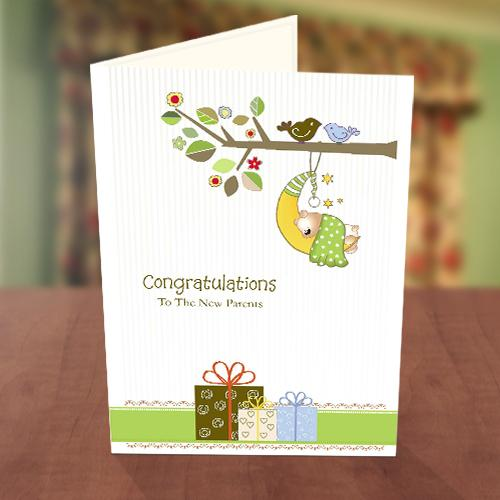 Gift Box New Baby Card