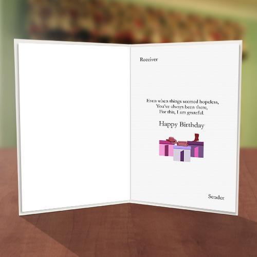 Gift Box Fashion Birthday Card Inner