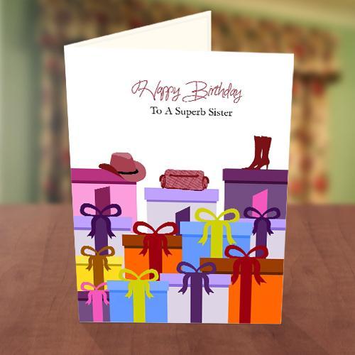 Gift Box Fashion Birthday Card