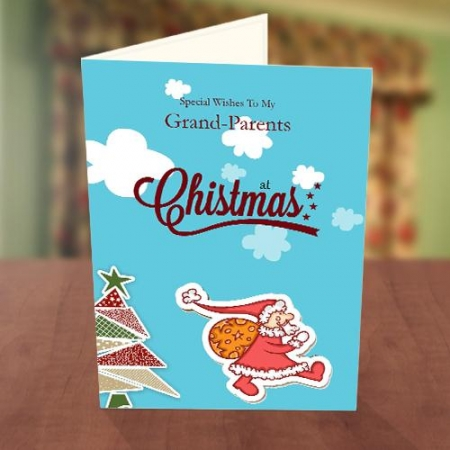 Grandparents Christmas New Year Card