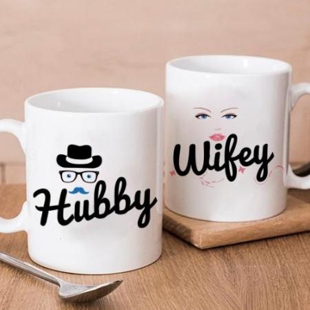 Hubby Wifey Twin Mugs