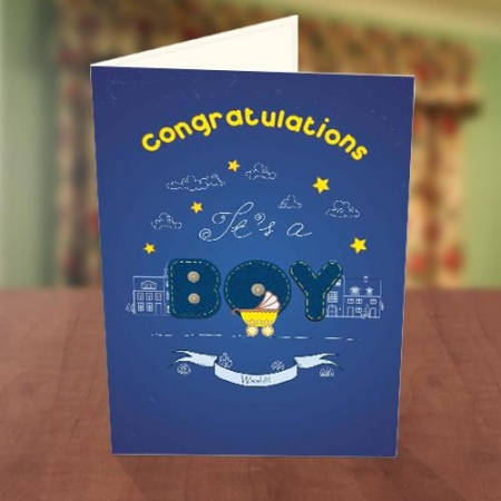 It's a Boy Baby Naming Card