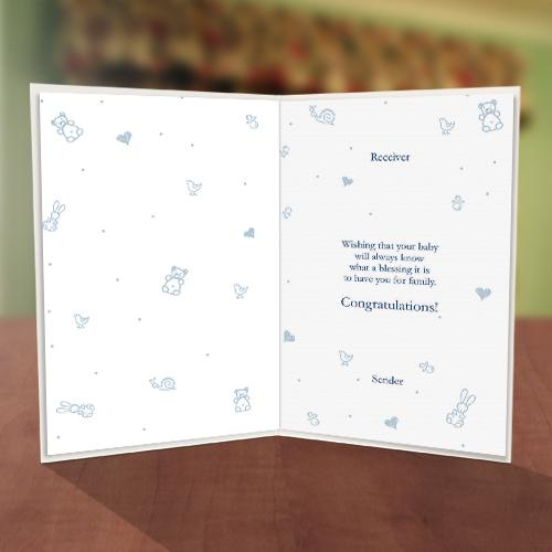 It's a Boy Baby Naming Card Inner