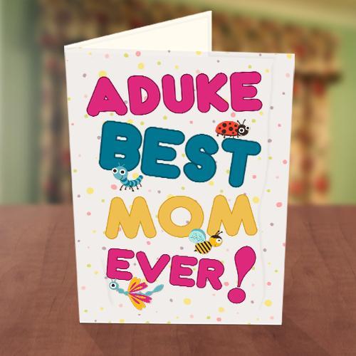 Ladybird & Bee Best Mom Card Front