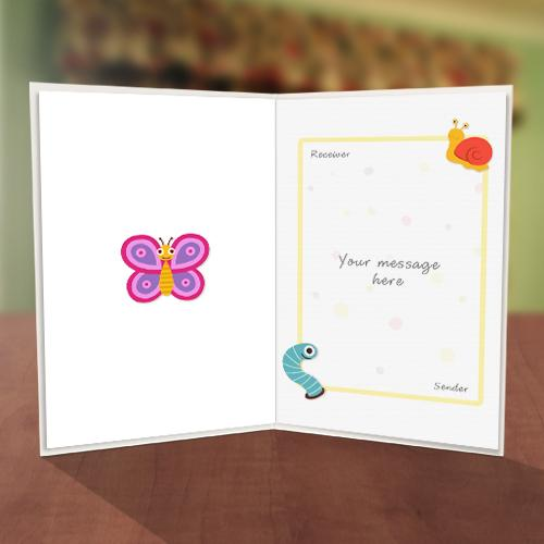 Ladybird & Bee Sweet Friend Card Inner