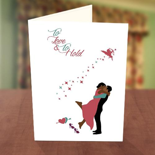 Lovely Couple Wedding Card