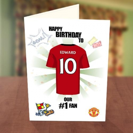 Manchester United Fan Birthday Card