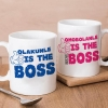 Personalised Boss Twin Mugs