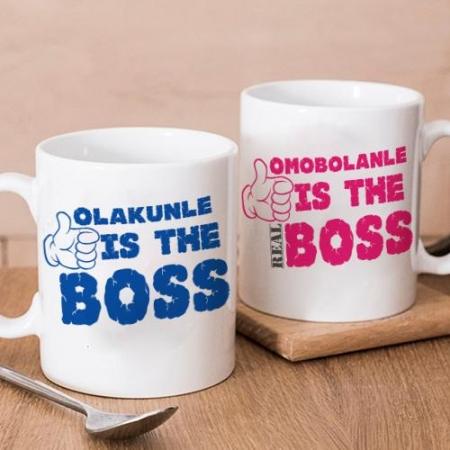 Personalised Boss Twin Mugs