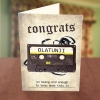 Personalised Cassette Tape Birthday Card Front