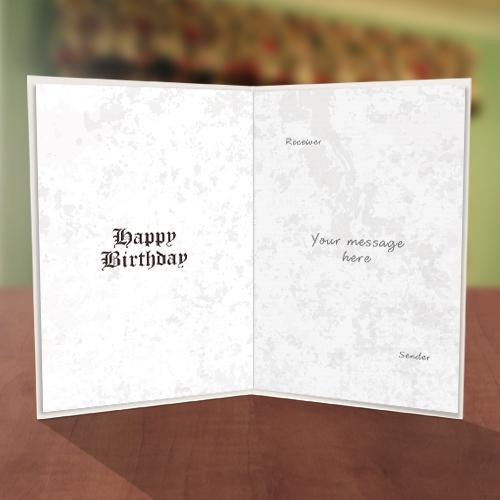 Personalised Cassette Tape Birthday Card Inner