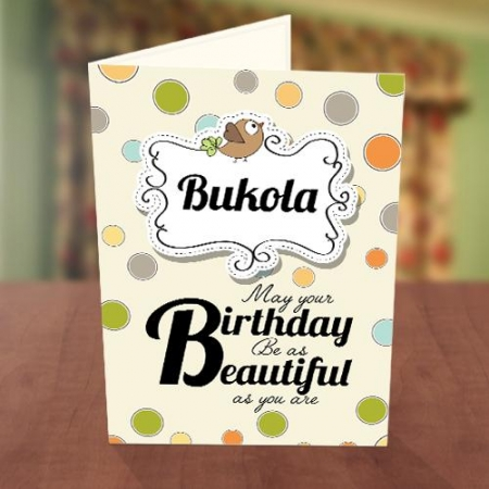 Personalised Colourful Polka Dot Birthday Card Front