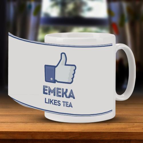 Personalised Facebook Mug Full