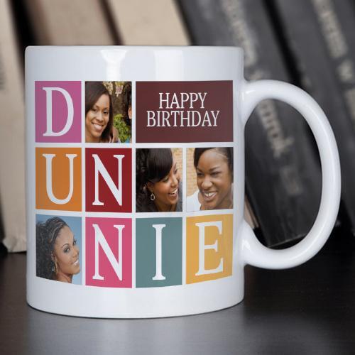 Personalised Happy Birthday Tile Mug