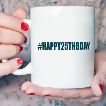 Personalised Hashtag Birthday Mug