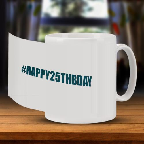 Personalised Hashtag Birthday Mug Full