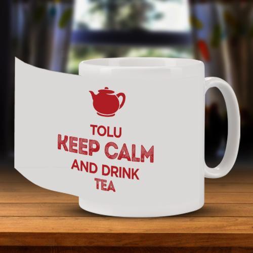 Personalised Keep Calm Mug Full