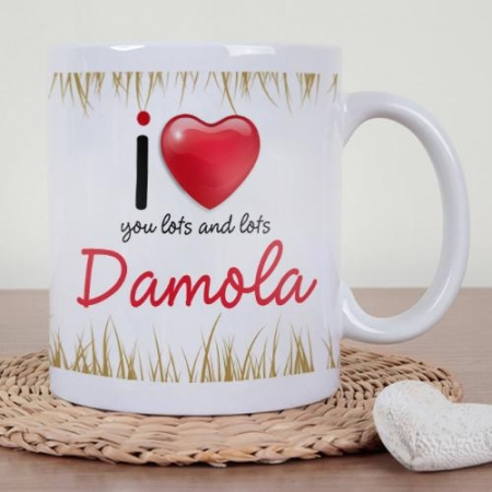 Personalised Lots Of Love Mug