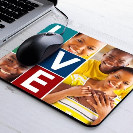 Personalised Love Collage Mousepad