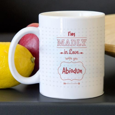 Personalised Madly in Love Mug