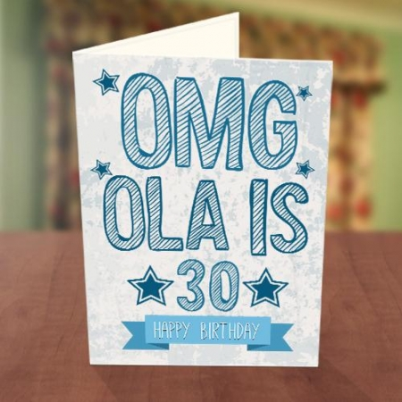 Personalised OMG Birthday Card Front