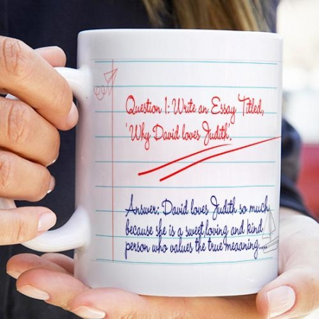 Personalised Question and Answer Mug