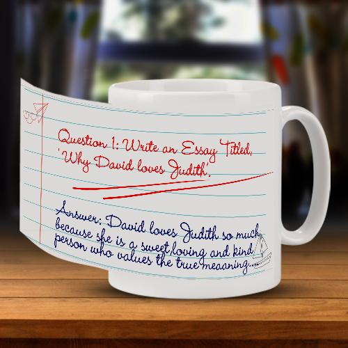 Personalised Question and Answer Mug Full