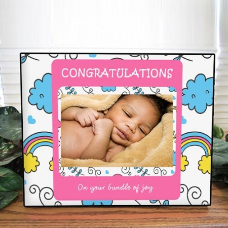 Personalised Rainbow Baby Photo Frame