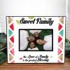 Personalised Sweet Family Photo Frame